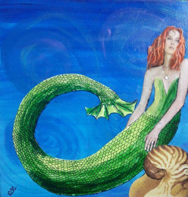 Nautilus-mermaid art