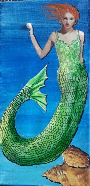 Pearl-mermaid art