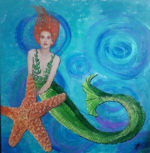 Sea Star-mermaid art